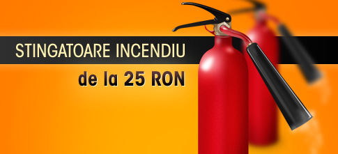 Stingatoare incendiu in oferta TrusaSanitara.ro. Preturi de la numai 25 Lei si livrare in reteua Urgent Curier.