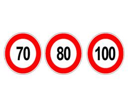 Autocolant limitare viteza 130 mm